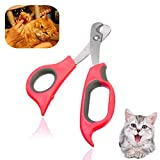 Sage Square Pet Paw Scissor Nail Cutter Cum Clipper for Pets for Cat & Kitten (Red)