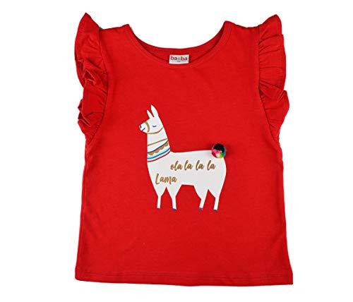 Baba Girl Ruffle Shirt Lama red Jersey Single Lycra Plain 104
