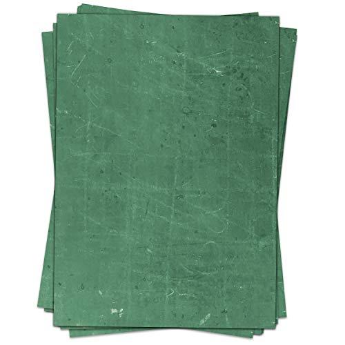 50 Blatt Briefpapier (A4)   Tafel-Look (2 Farben)   Motivpapier   edles Design Papier   beidseitig bedruckt   Bastelpapier   90 g/m²