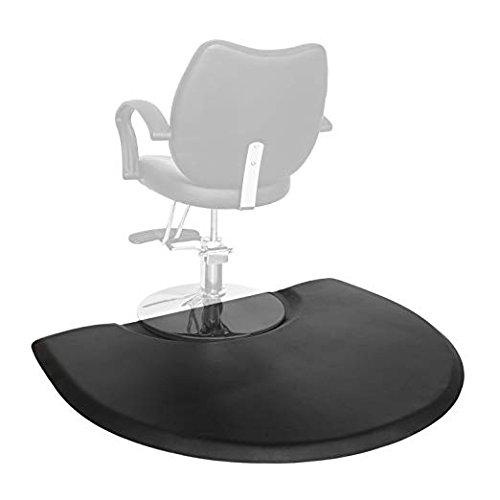 Mefeir 3' x 4' - 1 inch Thick Salon Anti Fatigue Mat for Hair Stylist, Semi Circle Comfort Barber Shop Beauty Floor Mats Under Styling Chair