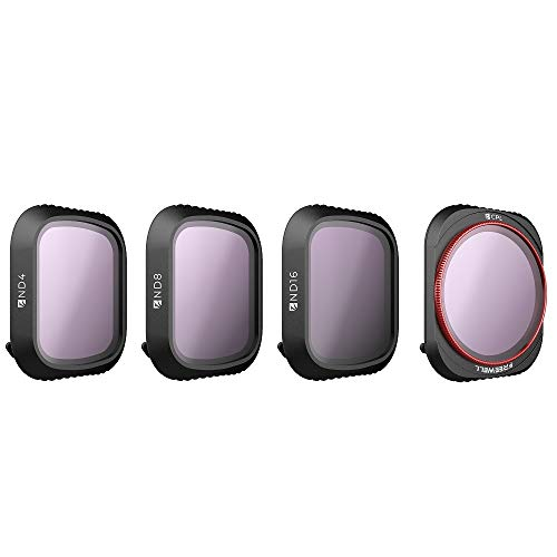 Freewell Standard Day – 4K Series – 4Pack ND4, ND8, ND16, CPL Camera Lens Filters Compatible with DJI Mavic 2 Pro Drone