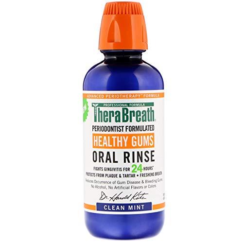 TheraBreath Healthy Gums Oral Rinse Clean Mint Flavor 16 fl oz 473 ml