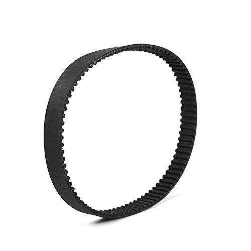HTD-5M-450-15 Courroies de Distribution Synchrone en Caoutchouc Noir Longueur de 450mm / Largeur de 15mm / 90 Dents / 5mm Pas pour Imprimante 3D