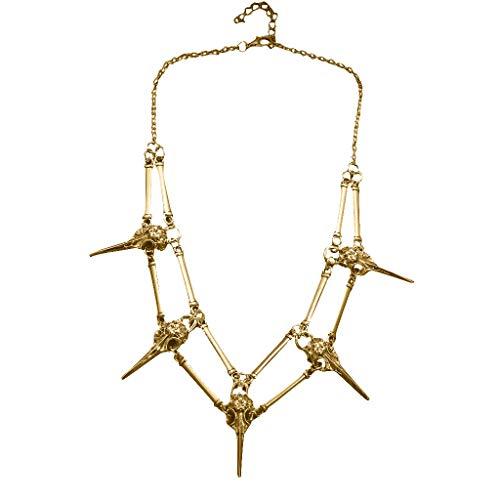 VICKY-HOHO Antiqued Silver Bird Skull Unisex Herren Halskette Chocker Halskette Anhänger Schmuck & Uhren 饰品 Halsketten & Anhänger