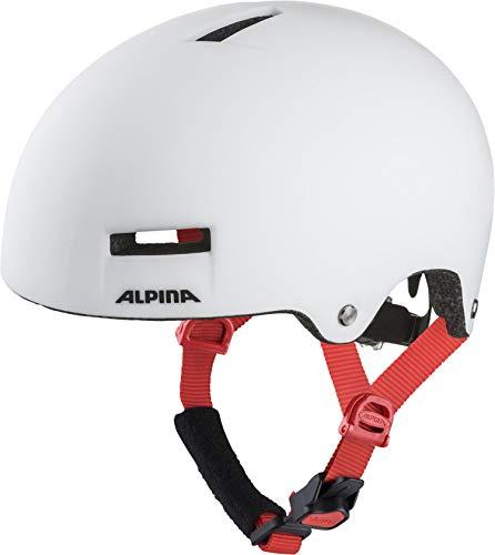 ALPINA AIRTIME Fahrradhelm, Unisex– Erwachsene, white, 52-57