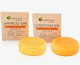 Solid Shampoo and Conditioner bar set, Organic Ingredients, All Hair Types, Sulfate-Free, Cruelty-Free & Vegan. One 3 ounc...
