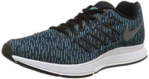 Nike  Air Zoom Pegasus 32 Print, Scarpe sportive, Uomo, Multicolore (Obsidian/Rflct Silver-Grn Glw), 42 EU