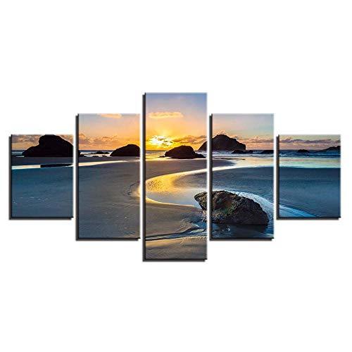 Wbzyj Strandfelsen Seestück Strandfelsen Seestück Strandfelsen Seestück Strandfelsen Seestück-ohne Rahmen
