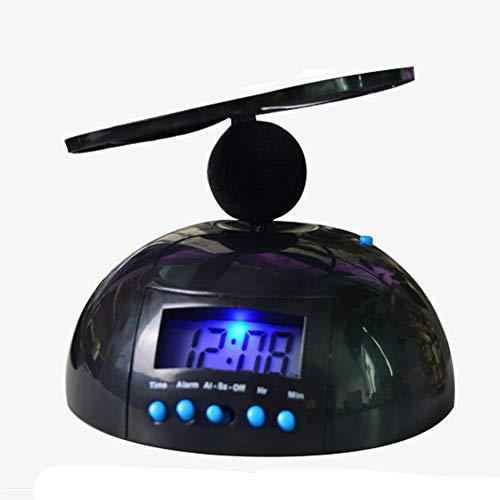 Fliegende Wecker Verrückte Helikopter Nickerchen Wecker UFO Propeller laut Digital Wecker mit LCD Hintergrundbeleuchtung, Ausrollen Helikopter Chopper Propeller Uhr Aufwachen Schwer Sleepers - Schwarz