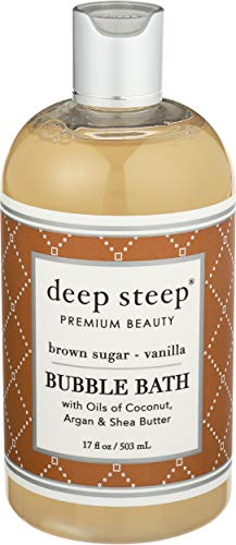Deep Steep Bubble Bath Brown Sugar Vanilla, 17 Ounce