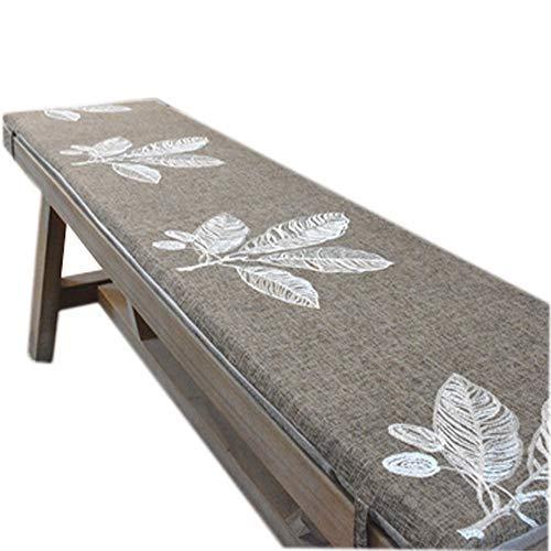 sunshinelh Cojín de banco de jardín de alta calidad para 2 3 plazas con lazo, cojín antideslizante para asiento de banco de madera, colchón de repuesto para interior y exterior (35 x 160 cm)