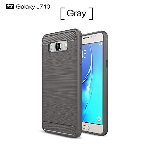 Teléfono móvil Funda protectora For Samsung Cases & Covers, Ultra Grip Ligh de fibra de silicona for Samsung caja del teléfono móvil J7 2016 protectora Shell resistente a los golpes cubierta del teléf