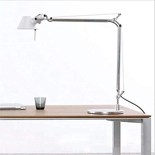 Lámpara de mesa de oficina, lámpara de trabajo, lámpara de mesa plegable ajustable, lámpara de mesita de noche, dormitorio, lámpara de mesa de aluminio para estudio de lectura
