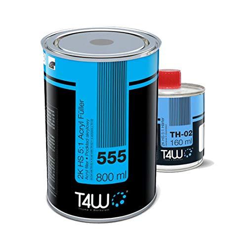 T4W 555 Acryl Füller Grundierung 5:1 Grau - 0,8 Liter + Härter 0,16 Liter (59042)