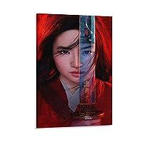 ムーラン映画HDポスターポスター装飾絵画キャンバス版画アートピクチャールーム装飾壁アート写真12×18インチ(30×45cm)