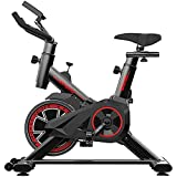 HYDT Exercise Bike Indoor Bike Rack-Home Gym Exercise Bike,with Comfortable Cushion,Silent Belt Drive (Color : Black)
