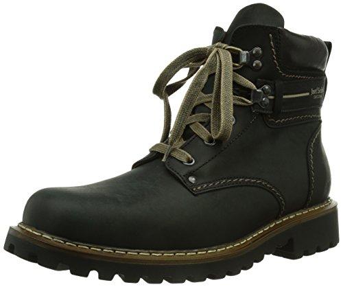 Josef Seibel Herren Stiefel Adelboden, Männer Winterstiefel, leger Winter-Boots fellboots lammfellstiefel Fellstiefel warm Men,Schwarz,50 EU / 15 UK