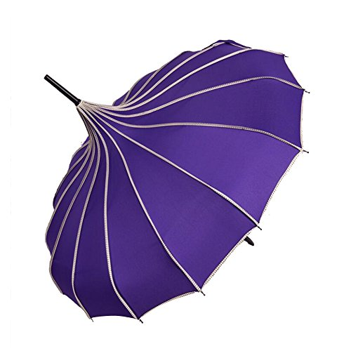 bpblgf New Regenschirm Mode Damen Sonnenschirm Brautschirm Hochzeitsschirm Pagode Ziernähte D, 04