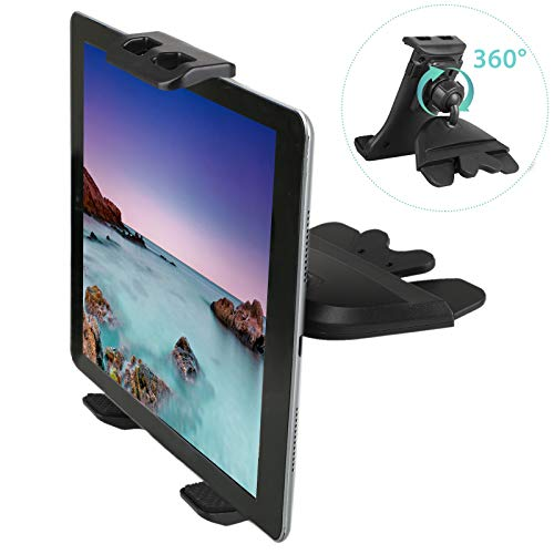 Linkstyle Porta Tablet da Auto per CD Slot, Supporti per Telefono da Auto per Lettore CD Compatibile con Samsung Galaxy iPad Mini Air PRO iPhone XS Max XS XR (Tablet e telefoni da 4 -12 )