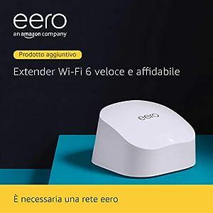 Ti presentiamo l'Extender Wi-Fi 6 mesh dual-band Amazon eero 6 - Estendi la tua rete eero