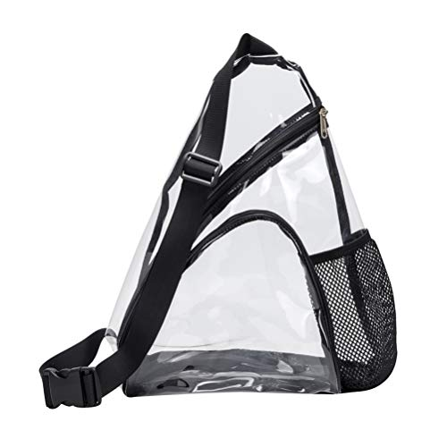 TENDYCOCO transparente schultertasche transparente brusttasche pvc tasche mit einem riemen stadiongeprüfte unisex