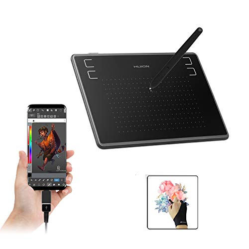 HUION Inspiroy H430P OSU Graphic Tablets Student Drawing Tablet with Glove and 4 Express Keys, Battery-Free Stylus, Compatible with Chromebook, Mac, PC or Android Mobile