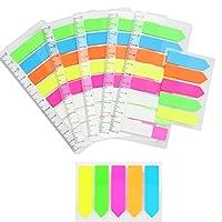 ♥【Paketnhalt】 --- Diese haftnotizen haben 1200 Blatt, insgesamt 10 Packungen, 5 Packungen Notizpapiere haben Skalen. ♥【Durchsichtiger und abnehmbarer Kleber】 --- Die dünne Durchsichtstreifen, der transparente Teil verdeckt keine Informationen; Abnehm...