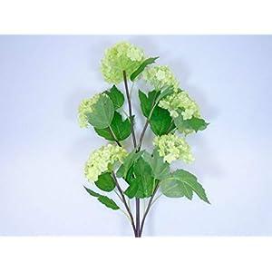 Snowball Spray 6 Artificial Silk Flowers 25″ Stem DSF05