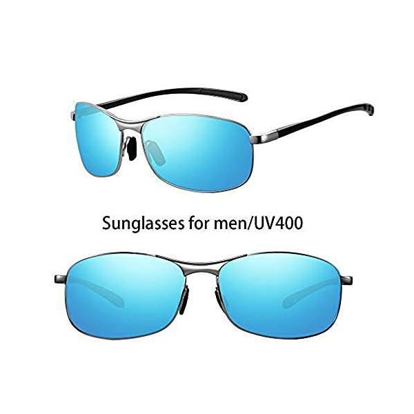Polarized Sunglasses for Men Women, HD Vision Lens with Advanced Composite Coating UV Protection Retro Sun Glasses