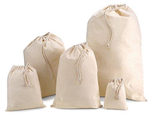 Baumwollbeutel mit Kordelzug Medium 30cm x 45cm 8 Litre