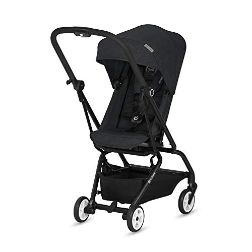 CYBEX Gold Eezy S Twist Compact Pushchair, 360° Rotatable Seat Unit, Ultra-Compact, From Birth to 17 kg (approx. 4 years), Lavastone Black