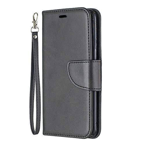 Lomogo Galaxy S8 / G950 Hülle Leder, Schutzhülle Brieftasche mit Kartenfach Klappbar Magnetverschluss Stoßfest Kratzfest Handyhülle Case für Samsung Galaxy S8 - LOBFE150205 Schwarz