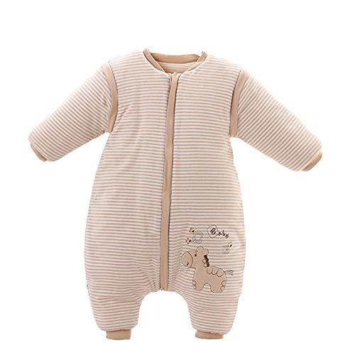 LITIAN Fractura de la Pierna Saco de Dormir para bebés de algodón Anti Tiro está climatizado por Bebé Niño Saco de Dormir del bebé del Saco de Dormir, Medio Grueso Pony 110 Yards