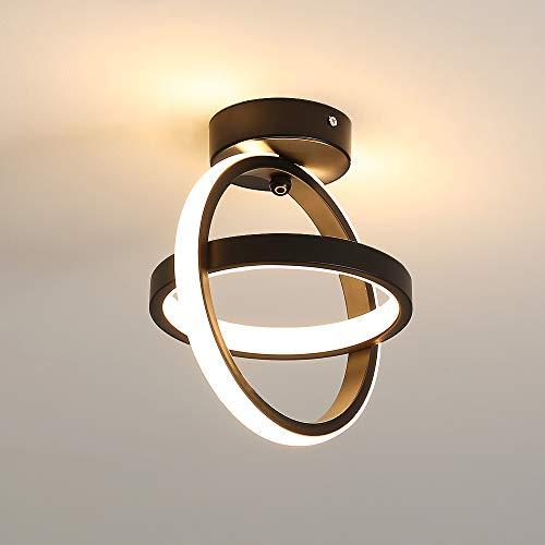 DAXGD lámpara de techo de 21 W, Luces de techo LED, iluminación para sala de estar, cocina, pasillo, 3000K Luz blanca cálida
