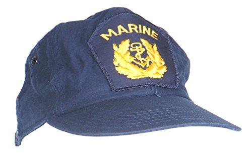 A. Blöchel Originale Marinemütze mit Marineabzeichen der Deutschen Bundeswehr nach TL Farbe Blau Einheitsgröße - Verstellbar 51-55