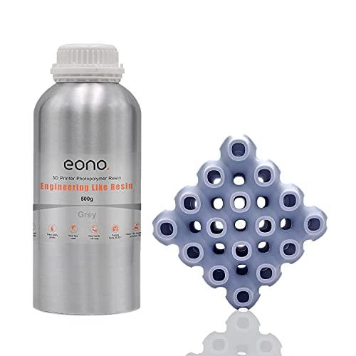 Amazon Brand - Eono Resina de impresora 3D, LCD UV 405nm ABS Like Potenciar Engineering Like Resina de fotopolímero rápida...
