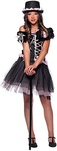 VENEZIANO Costume di Carnevale da Lady Casino Vestito per Ragazza 12-16 Anni Travestimento Halloween Cosplay Festa Party 50513 Taglia 14