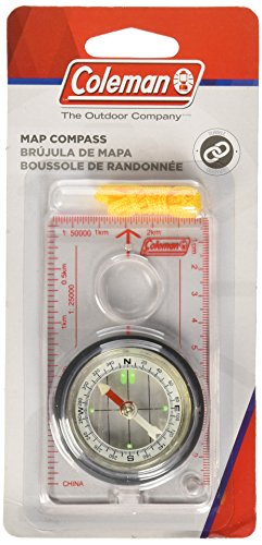 Coleman Company Map Compass, Grey/Black/Red