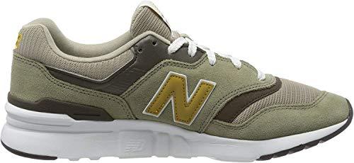 New Balance Herren 997h h Sneaker, Grün (Green/Gold Hez), 43 EU