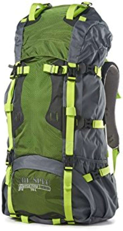 MilSpec Adventure Gear Plus MSA150168009000 Hiking Backpack, Green, 70L