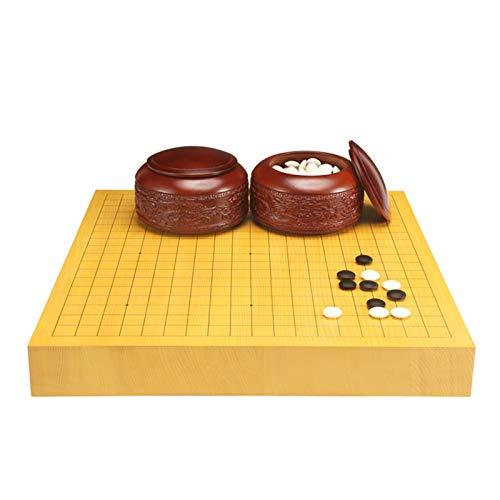 DEALBUHK Ajedrez Santo Pieza de Doble Cara Pieza de ajedrez Dragón Tallado Tallado de Madera de ajedrez de Madera sólido Juego de ajedrez Tallado Regalo de colección Juego de Mesa de Rompecabezas