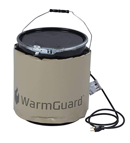 Buy WarmGuard WG05 Insulated Pail Band Heater - Bucket Heater, Fixed Internal Thermostat Max Temp 14...