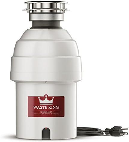 Waste King 9980 Garbage Disposal with Power Cord, 1 HP,Metallic