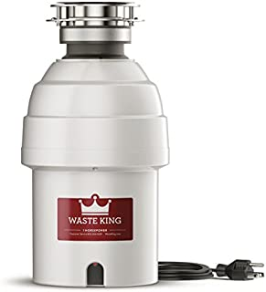 Waste King 9980 Garbage Disposal with Power Cord,  1 HP