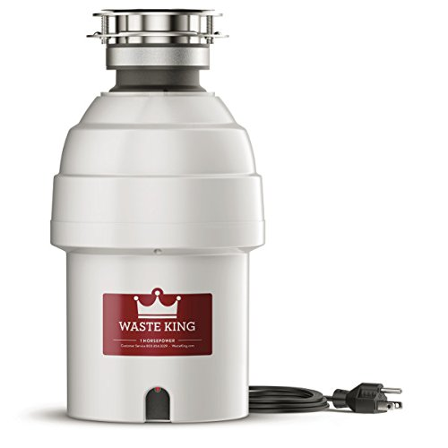 Waste King 9980 Garbage Disposal with Power Cord,  1 HP,Metallic