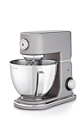 WMF Profi Plus Küchenmaschine, 1000 W, Cromargan-Rührschüssel 5 l, planetarisches Rührwerk, 8 Geschwindigkeitsstufen, steel grey