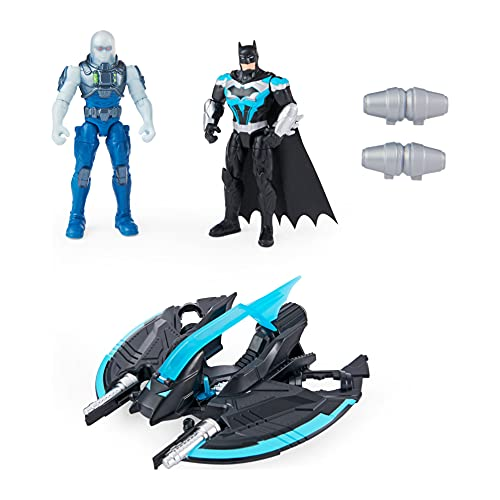 DC Comics Batman Bat-Tech Flyer with 4-inch Exclusive Mr. Freeze and Batman Action Figures, Kids Toys for Boys Ages 3 and Up