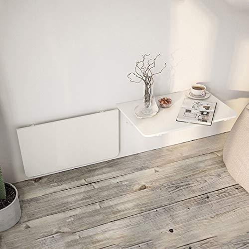 QQAA Mesa plegable de madera para colgar, ahorro de espacio, computadora portátil, computadora portátil, mesa de trabajo, montaje en pared, para estudio, dormitorio, baño, balcón