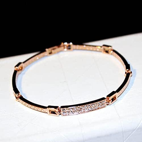 Pulsera Pendientes Rectangulares De Cristal De Oro Real De 14 K De Moda para Mujer Temperamento Joyería De Diseño Original S925 Aguja De Plata Circoni