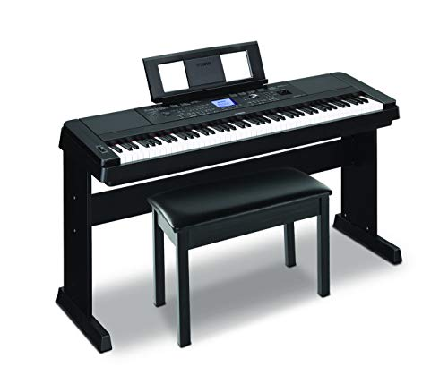 Yamaha DGX660B 88-Key Weighted Digital Piano & Furniture Stand with BB1 Padded Wooden Piano Bench - Black